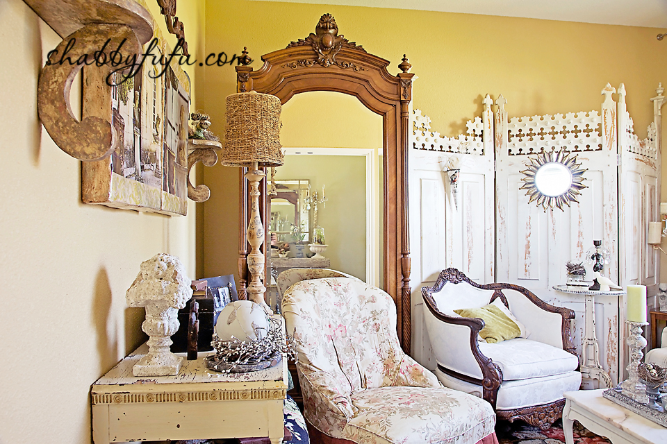 French country decor in Texas - elegant and chic dressing area in a french country style bedroom