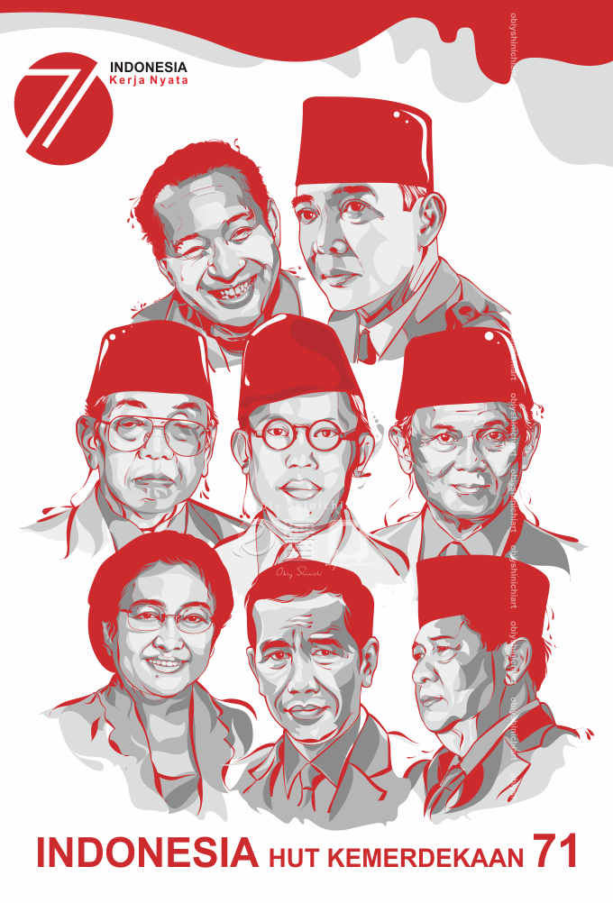 7 President in Vector 7 Presiden Indonesia by Obiy