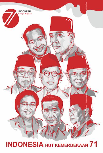 7 Presiden edisi merah putih