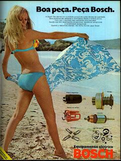 propaganda equipamentos elétricos Bosch - 1973; 1973; brazilian advertising cars in the 70s; os anos 70; história da década de 70; Brazil in the 70s; propaganda carros anos 70; Oswaldo Hernandez;