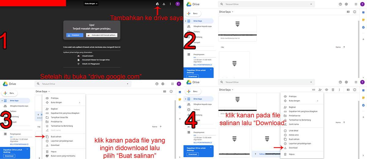 Cara Mengatasi Limit Google Drive (Maaf, anda tidak dapat ...