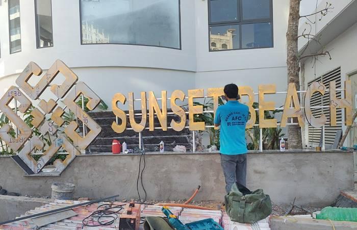 Làm bảng hiệu Alu chữ nổi tại Phú Quốc