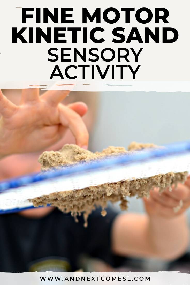 Looking for fine motor kinetic sand activities for kids? Try this odd combo!