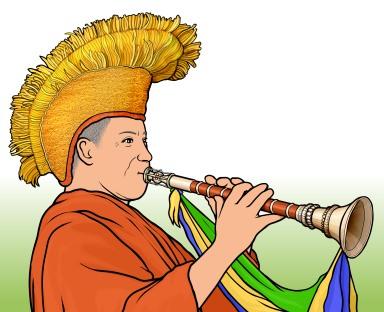 チベットの管楽器 ギャリン Gyaling