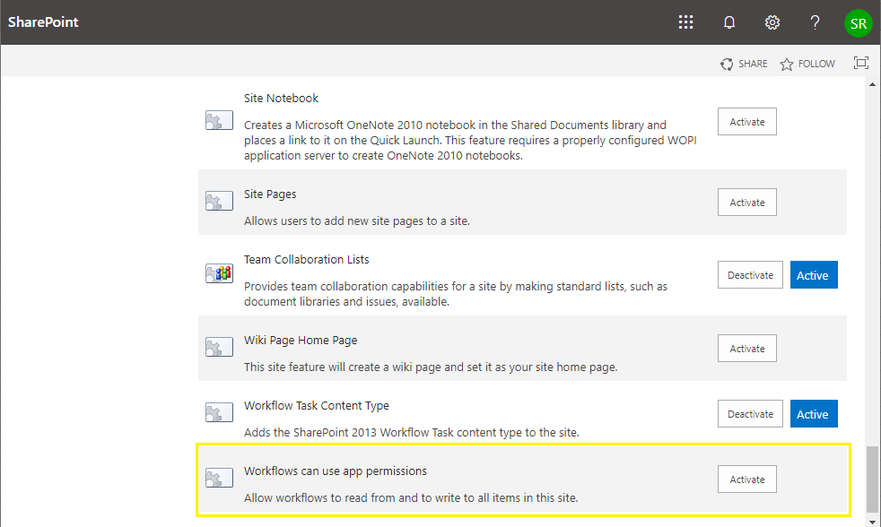 App Step grayed out in SharePoint Designer