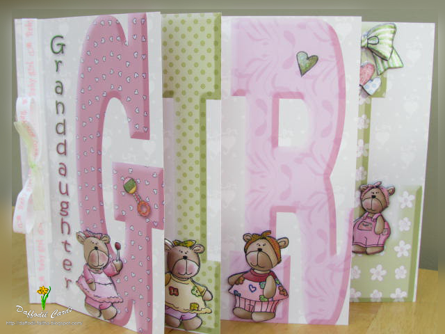 Daffodil Cards A baby girl card