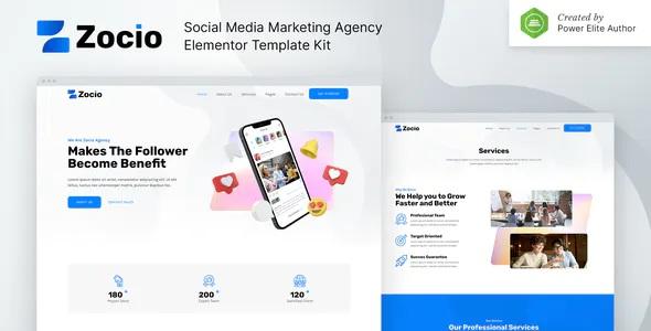 Best Social Media Marketing Agency Elementor Template Kit