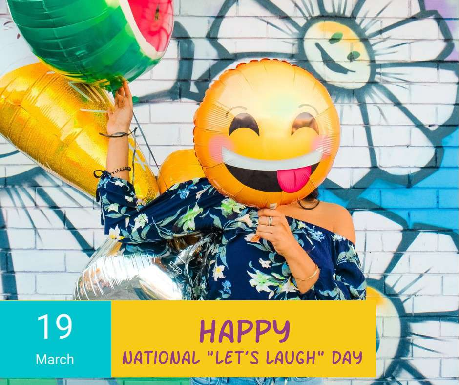 National Let's Laugh Day Wishes Beautiful Image