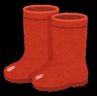 長靴のイラスト(赤)