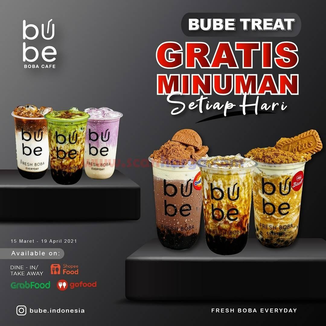 Promo BUBE Terbaru - Bube Treat GRATIS Minuman Setiap Hari
