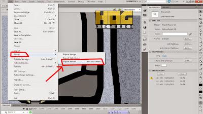 Menyimpan Hasil Animasi pada Flash dalam Bentuk Video - Hog Pictures