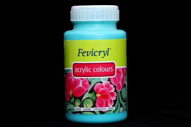 Pidilite Fevicryl Acrylic Colour teal blue 68 (500 ml)
