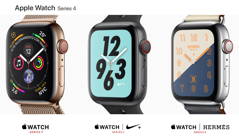 Nuovi Apple Watch Serie 4
