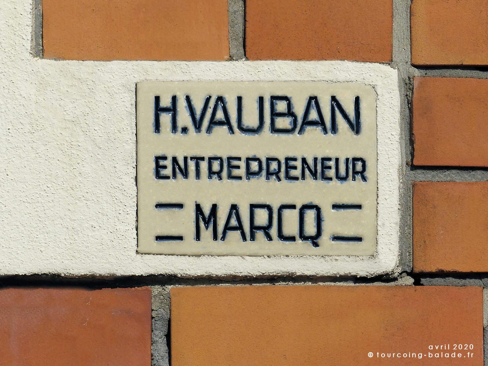 H. Vauban Entrepreneur, Marcq - Immeuble Art Déco