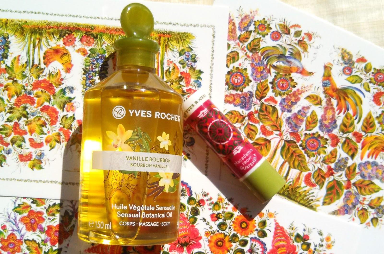 kireikana yves rocher bourbon vanilla massage oil. Black Bedroom Furniture Sets. Home Design Ideas