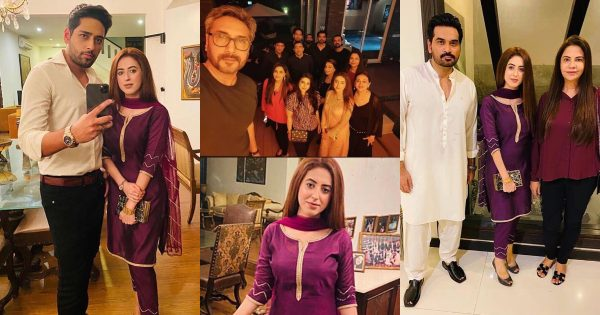 Newly Wed Salman Saeed and Aleena Fatima at Humayun Saeed House