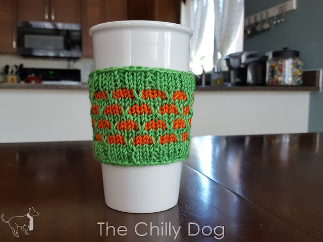 A quick knitting pattern to make a cup sleeve for your pumpkin spice coffee