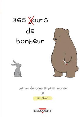 """couverture """"365 ours de Bonheur"""" de Liz Climo chez Delcourt"""