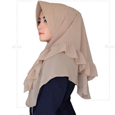 hijab antem warna mocca
