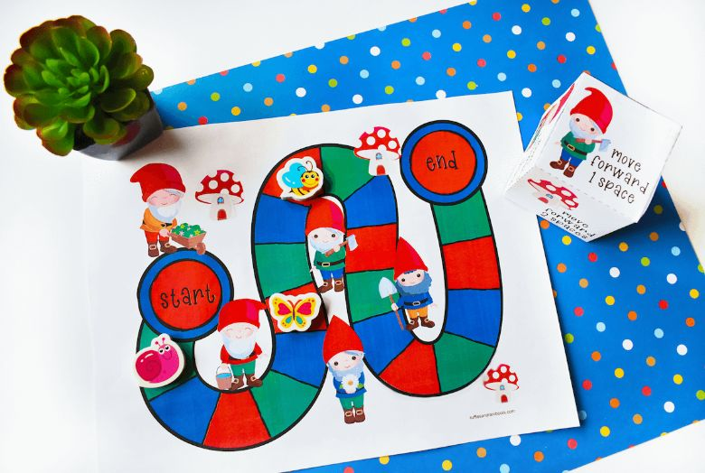 printable games for kids - Gnome board game