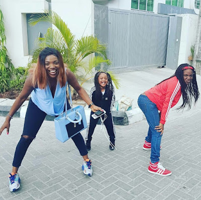 Annie Idibia And Her Daughters Goof Around In New Photo