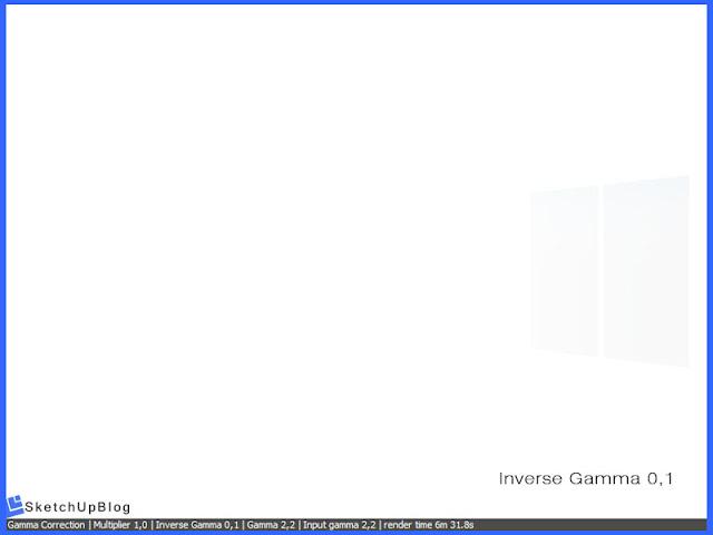 Cara setting Gamma Correction Color Mapping vray sketchup 2.0 - Inverse Gamma 0,1
