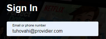netflix login with phone number
