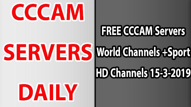 FREE CCCAM Servers World Channels +Sport HD Channels 15-3-2019