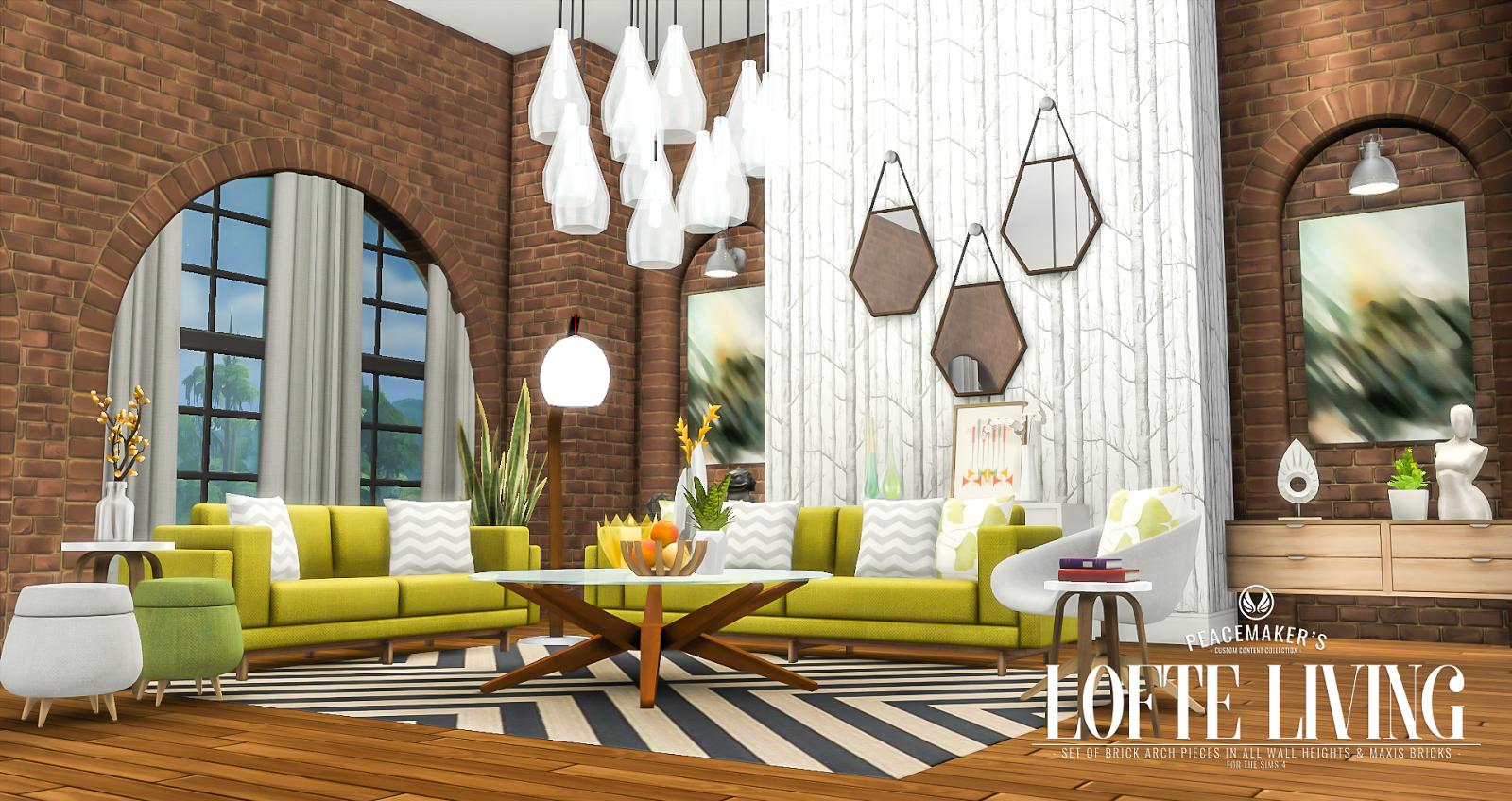 Simsational Designs: Lofte Living - Brick Arch Decor Set