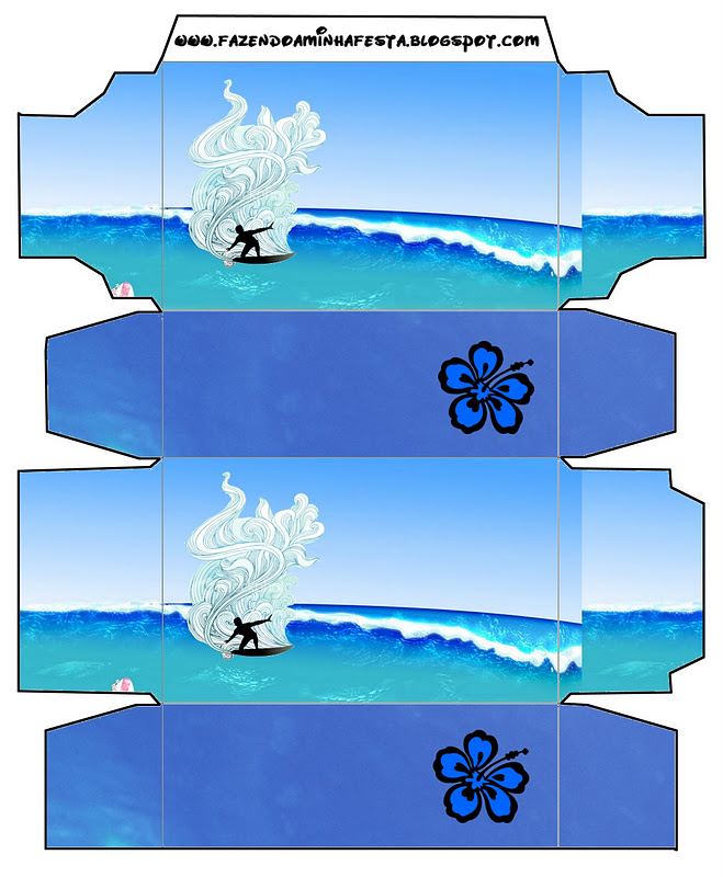 Surfing Free Printable Boxes Oh My Fiesta In English