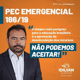 IDILVAN ALENCAR - NÃO PODEMOS ACEITAR A DESVINCULAÇÃO DOS RECURSOS DA EDUCAÇÃO BRASILEIRA