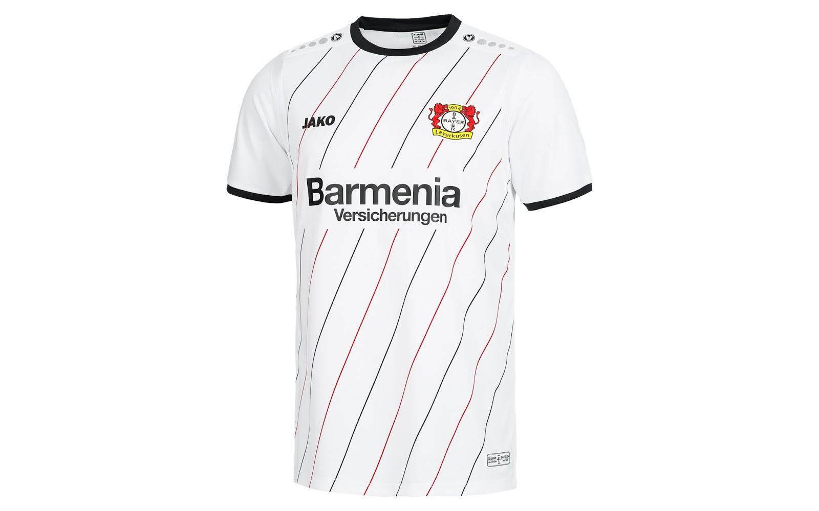 eaa8958b19680 Nova camisa do Bayer Leverkusen celebra os 30 anos do título da Copa ...