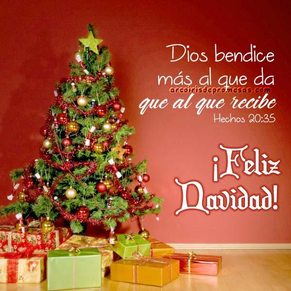 tiempo de dar mensaje de navidad con imagen arcoiris de promesas