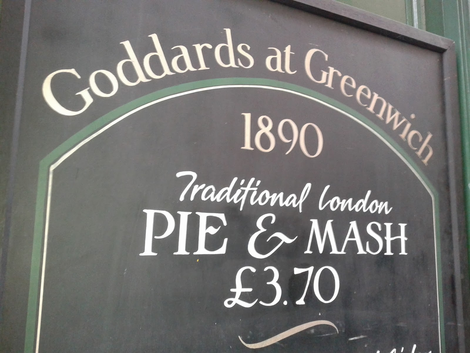 Goddard at Greenwich pie and mash