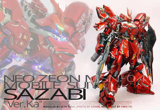 MG 1/100 Sazabi Ver Ka Custom Metallic w/Led by Seth Tuna