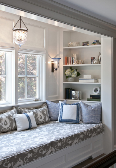 Ideally, a comfortable nook  should be close to the window.