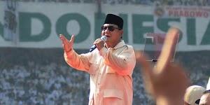 Di Palembang, Prabowo Pamer Hasil Survei Internalnya yang Ungguli Jokowi