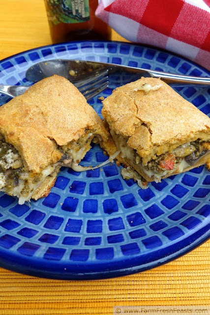 Vegetarian Antipasti FFF-a-boli Rolled Pizza on Sweet Potato Dough | Farm Fresh Feasts