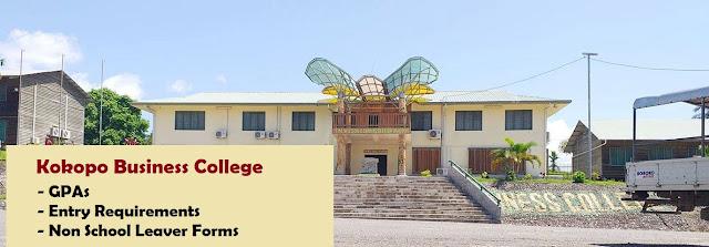 Kokopo Business College Non School leaver forms