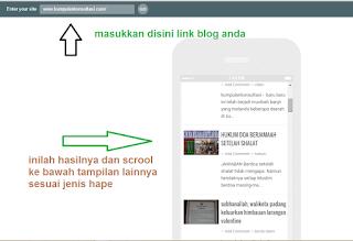 anda blogger, cek tampilan mobile blog anda disini