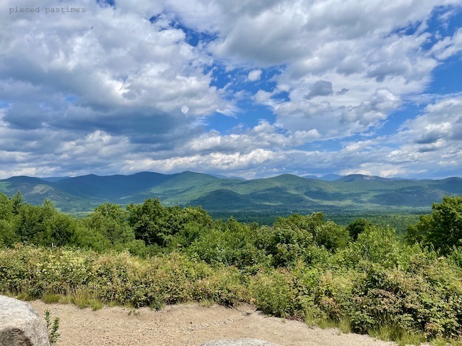Mountain View from Bear Notch Rd in NH at Pieced Pastimes
