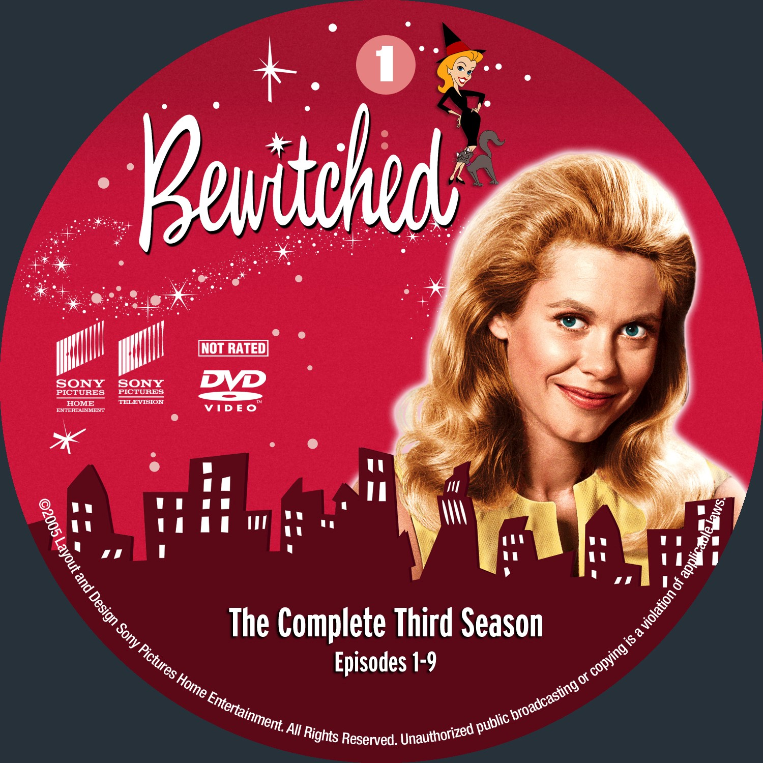 Bewitched Season 3 Disc1-4 DVD Label
