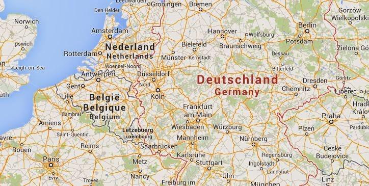 Peta Jerman | Pengiriman ke Jerman
