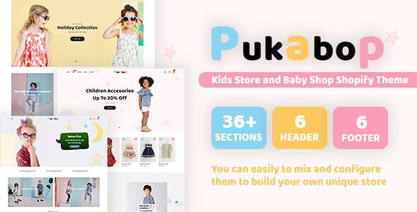 Pukabop - Kids Store and Baby Shop Shopify Theme
