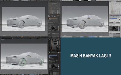 Beberapa tema di Blender 3D, Elysiun, Flatty Light dan lainnya