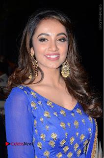 Telugu Actress Tejaswi Madivada Pos in Blue Long Dress at Nanna Nenu Na Boyfriends Audio Launch  0003.JPG