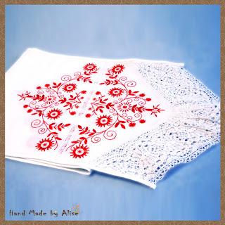Рушник с ручной вышивкой