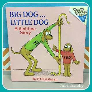 Learning about measurement with the book, Big Dog Little Dog