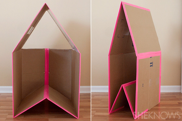 diy une maison en carton. Black Bedroom Furniture Sets. Home Design Ideas