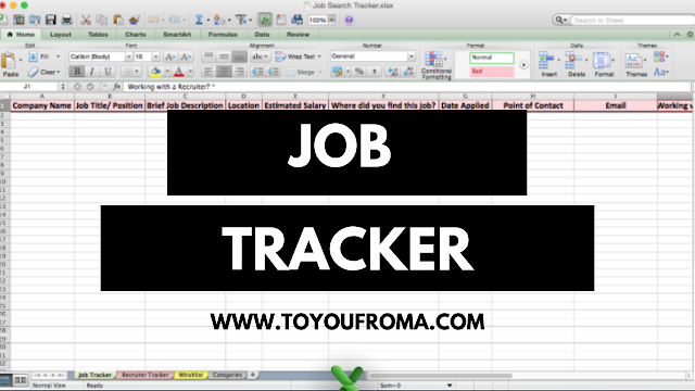 job search tracker to stay orginized